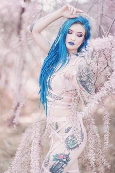 Model: BLUE ASTRID Photo: Aneta Pawska - Enchanted Stories Harness: Miss Overdose Welcome to Gothic and Amazing |www.gothicandamazing.com