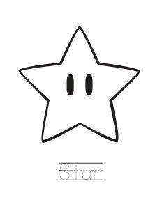 mario star coloring pages  Super Mario
