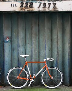 Single speed bike made from vintage 80's classic Falcon racing bike frame.