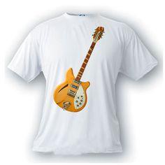 rickenbacker 360 12 string guitar 1964 vintage image t-shirt rock n roll music by artonstuffdesigns on Etsy