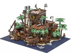 Lego LEGO IDEAS - Product Ideas - The Pirate Bay - Wow! This is the perfect Island to go with the Pirate Series! Book Your Photos and Leave Memories. Bateau Pirate Lego, Lego Pirate Ship, Lego Design, Legos, Pirate Island, Lego Sculptures, Lego Pictures, Amazing Lego Creations, Lego Worlds