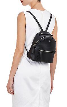 Small black leather backpack purse (not drawstring) Backpack Outfit, Mini Backpack, Backpack Purse, Fashion Backpack, Mini Handbags, Handbags On Sale, Luxury Handbags, Leather Handbags, Leather Bags