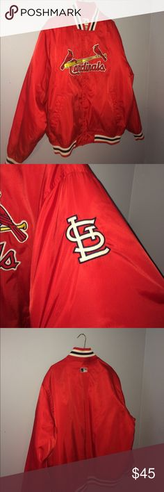 St.Louis Cardinals Bomber Jacket 🎉 Small mark on neck ❗️ Majestic Jackets & Coats