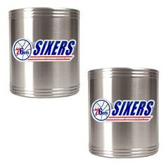 NBA Philadelphia 76ers Two Piece Stainless Steel Can Holder Set * Want to know more, click on the image.