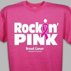 Rockin Pink Breast Cancer Awareness T-Shirt