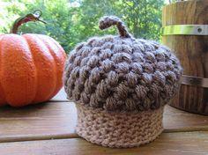 Crochet Acorn Hat Baby Photo Prop Newborn Hat Infant