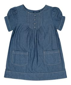 Another great find on #zulily! Blue Chambray A-Line Dress - Infant, Toddler & Girls by JoJo Maman Bébé #zulilyfinds