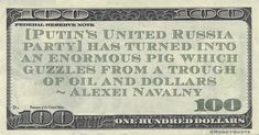 """Alexei Navalny Money Quote saying during his February, 2021 trial in Russian Court that Putin is corrupt and controls the oil industry. Alexei Navalny said: """" has turned into an enormous pig which guzzles from a trough of oil and dollars"""" -- Alexei Navalny Alexei Navalny #HappyBirthday #Birthday June 4 #MoneyQuote United Russia, Money In Politics, John Mcafee, Federal Reserve Note, Oil Industry, Money Quotes, Frugal, Quotations, Finance"""