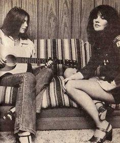 Emmylou Harris and Linda Rondstadt, 1977--COOL FRIENDS