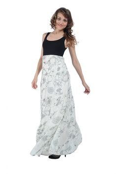 Rochie lunga voal imprimat Natalee Lace Skirt, Skirts, Fashion, Moda, Fashion Styles, Skirt, Fasion, Skirt Outfits