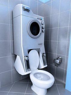"""From """"Living Off The Grid"""" - Solves the space problem in a tiny apartment as well as the gray water problem."""