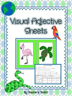 {Freebie} Visual Adjective Sheets FREEBIE  Look at how cute this is!