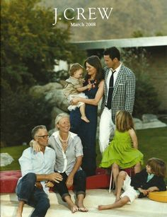 Preppy family photo - love the navy, coral and kelly green