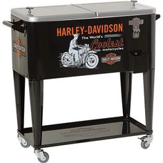 Harley-Davidson World's Coolest Rolling Cooler ......want it, love it! :-)