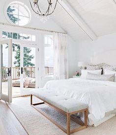 "311 Likes, 15 Comments - T U F T  &  T R I M (@tuftandtrim) on Instagram: ""I'm in love with every inch of this beautiful bedroom, it's so bright and elegant. I think I may…"""