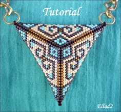 Two-sided peyote triangle pendant   JewelryLessons.com