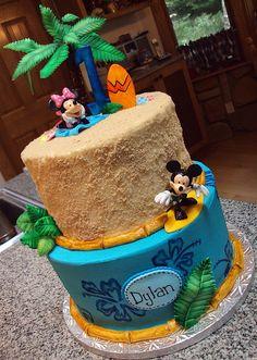 Mickey Luau Cake