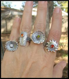 Metal Clay Jewelry, Silver Jewelry, Taurus And Aquarius, Precious Metal Clay, Love Ring, Custom Jewelry, Jewelery, Leo Horoscope, Jewelry Making