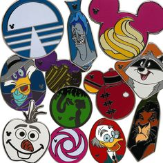 New Hidden Mickey Pins Coming to Disney Parks in April 2015.... I want the apples!