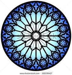 Gothic Rose Window/Illustration - 100336427 : Shutterstock