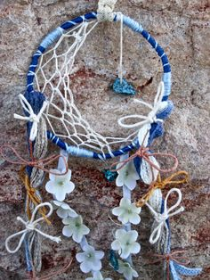 Moon and Star Dream Catcher by FromAshsToDreams on Etsy, $15