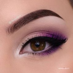 Purple Eye Makeup, Makeup Eye Looks, Eye Makeup Art, Colorful Eye Makeup, Eye Makeup Tips, Smokey Eye Makeup, Makeup Goals, Skin Makeup, Eyeshadow Makeup