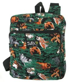 Wolf Bear Deer Backpack Small Wolf Lodge - CUTE Travel Day BAG >>> Read more reviews of the product by visiting the link on the image. (This is an Amazon Affiliate link and I receive a commission for the sales)