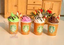 Eis Täuschen Spiel-küche kaffeetassen eis Dollhouse 6 Skala BJD Puppe Rement Lebensmittel kawaii handwerk DIY hochzeit dekorationen(China (Mainland))