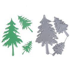 83100mm Christmas Tree Cutting Dies Scrapbooking Metal Cutting Pressing Stencils Craft Dies For DIY Decorations Embossing