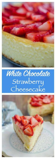 A silky smooth cheesecake with a hint of white chocolate and fresh strawberry sauce.
