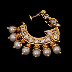 Indian Jewellery and Clothing: Indian nose ring/nathu from vbj jewellers