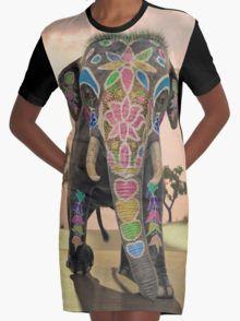 Indian Elephant 3 Graphic T-Shirt Dress