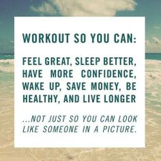 Feel great, sleep, confidence, wake up from that deep sleep you've been in.