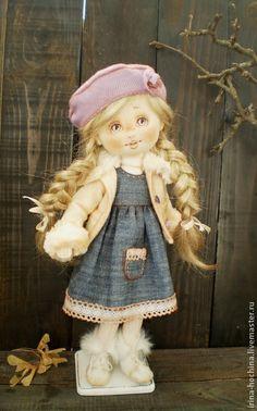 Текстильная авторская кукла Маринка. Handmade.