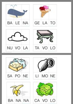 Italian Words, Italian Language, Learning Italian, Preschool Worksheets, School Hacks, Pre School, Speech Therapy, Easy Drawings, Kids And Parenting