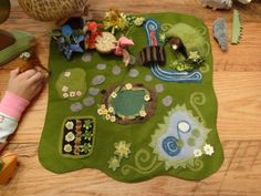 Absolutely beautiful felt Fairy Play Mat.