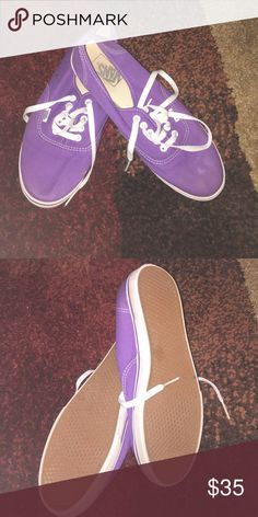 Purple Vans Purple Vans.. like new. Smoke free home! Shoes Sneakers