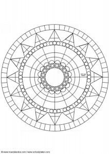 This beginners Mandala coloring sheet is a fun design and easy to color. Mandala 36 coloring page can be decorated online with the interactive . Mandala Art, Circle Mandala, Mandalas Drawing, Mandala Coloring Pages, Mandala Pattern, Mosaic Patterns, Coloring Book Pages, Geometric Patterns, Printable Coloring Pages