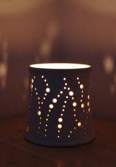 NEW Made to Order Handmade Ceramic Luminaries in by NaomiAnita