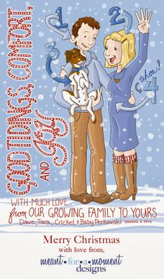 Cute Christmas Cards - Announcing Pregnancy   news2013.jpg (548×932)