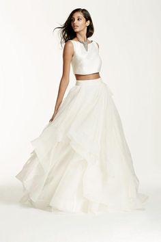 Galina Signature crop-top wedding dress