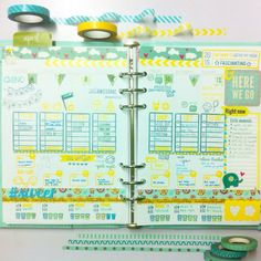 My full week for April 6-12 ☀️ what I love about my EC inpsired layout is that there's so much writing ang decorating space! ❤️ Stamps used are from @studio_l2e @hkswapp and @sweetstampshop , Washi tapes from @crafteedandee || @lionachinky