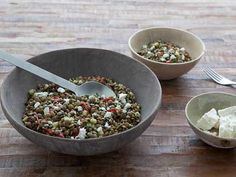 Green Lentil Salad with Cucumber and a Cumin and Lemon Vinaigrette