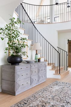 Mediterranean Home Interior .Mediterranean Home Interior French Chateau Homes, French Chateau Decor, Home Luxury, Curved Staircase, Metal Stairs, Staircase Design, Stair Storage, Console Table, California Homes