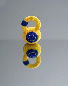 Crochet personalized kettlebell  Crochet rattle by YarnBallStories