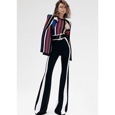 SHARP STRIPES #AndreeaDiaconu photographed by #BennyHorne wears #Balmain Spring/Summer 2015 Look…
