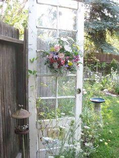 white, in garden