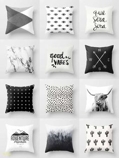 Black & White Throw Pillows - is home to hundreds of thousands of artists from around the globe, uploading and selling their original works as premium consumer goods from White Throw Pillows, Cute Pillows, Bed Pillows, Accent Pillows, Chair Cushions, Black Pillows, Geometric Throws, Sims 4 Cc Furniture, New Room