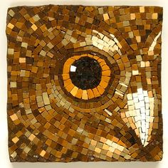 Magnificent owl mosaic by Helen Bodycomb