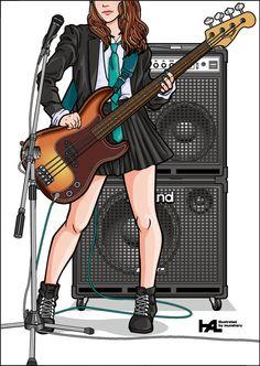 Girls Guitarist / Jazz Bass